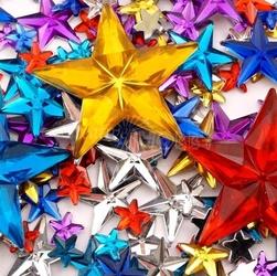 Szkiełka dekoracyjne - gwiazdki 350 sztuk - GWIA