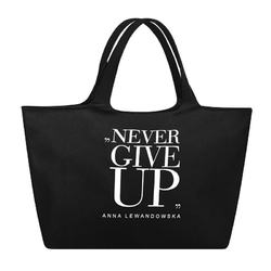 Torba uniwersalna czarna Never Give up HPBA Anna Lewandowska Healthy Plan by Ann