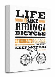 Asintended Riding A Bicycle - Obraz na płótnie