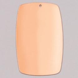 Metalowa zawieszka Efcolor - prostokątny 51x32 mm - PR51