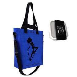 Torba Cargo AL niebieska + Lunch box na sałatki GoEat HPBA Anna Lewandowska Healthy Plan by Ann