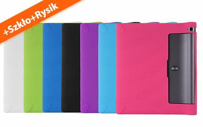 Etui silikonowe Lenovo Yoga 3 10.1 x50 LF Różowy+ rysik + szkło - Różowy