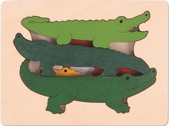 KROKODYLE drewniana układanka warstwowa