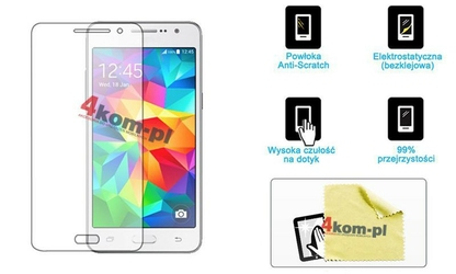 Folia ochronna na ekran do Samsung Galaxy Grand Prime G530 + ściereczka