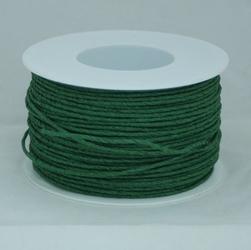 Ozdobny sznurek papierowy z drutem - zielony ciemn - ZIELCIE