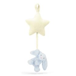 Króliczek z gwiazdką - pozytywka błękitny Bashful Beige Bunny Star