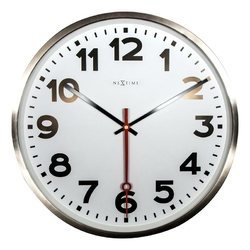 Zegar ścienny Super Station cyfry arabskie
