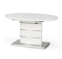 Owalny stół do jadalni Lelia II 140-180x90 cm biały