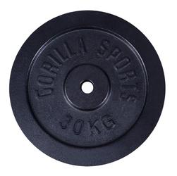 30 kg Obciążenie żeliwne na sztangę 30 mm Gorilla sports