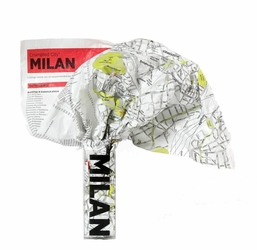 Mapa Crumpled City Mediolan