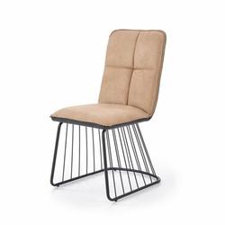 Dover krzesło loftowe jasny brązczarny