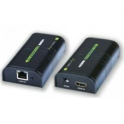Techly Extendersplitter HDMI po skrętce Cat.5e66a7 do 120m, over IP, czarny