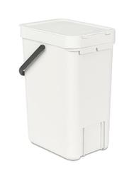 Kosz do segregacji odpadów Sort  Go 12 l  biały