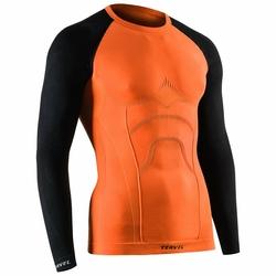 TERVEL Męska Koszulka Długi Rękaw COMFORTLINE 1002COMORABLA - Pomarańczowy || Czarny