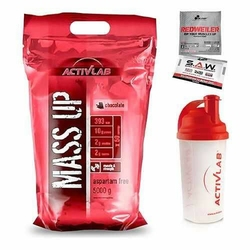 ACTIVLAB Mass Up - 5000g + Shaker GRATIS - Dark Chocolate