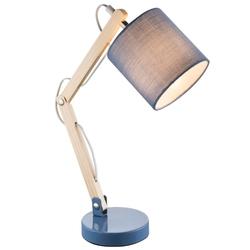 Lampa biurkowa Charlotte, niebieska