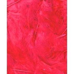 Dekoracyjne piórka puchate 3 g - fuksja - FUK