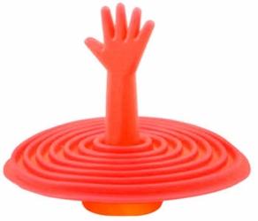 Korek Silikonowy do Wanny Umywalki Zlewu Uniwersalny - Czerwony