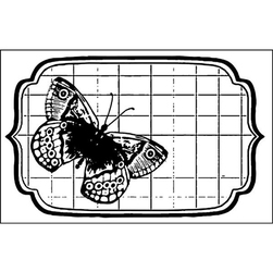 Kauczukowy stempel Stamperia 7x11 cm - motyl - 05