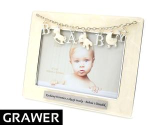 Ramka na Zdjęcia Baby Roczek Chrzest z GRAWEREM