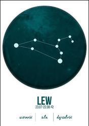 Znak Zodiaku, Lew - plakat Wymiar do wyboru: 20x30 cm