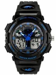 Męski zegarek Skmei 1270 - elektroniczno-wskazówkowy zs020b