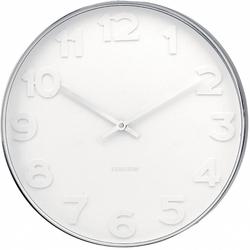 Zegar ścienny Mr. White Numbers Big Karlsson KA4381