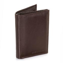 Skórzany portfel męski brodrene a-10 brązowy - brązowy