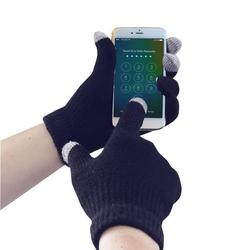 Rękawice dziane do ekranów dotykowych gl16 granatowe