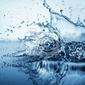 Plakat bąbelki wody w kolorze niebieskim
