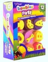 Farby do malowania palcami ze stempelkami 12 kolorów bambino