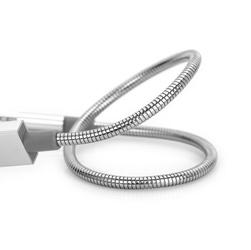 Kabel usb 2.0, usb a m- usb a m micro, 0.3m, reversible, srebrny, verbatim, box, 48865