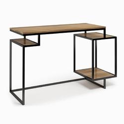Nowoczesne biurko z kontenerkiem connect steel premie 130 cm