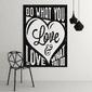 Do what you love amp; love what you do - modny obraz motywacyjny , wymiary - 60cm x 90cm