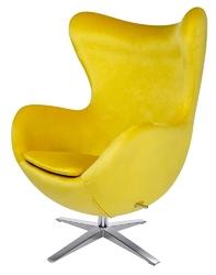 Fotel obrotowy i bujany egg szeroki velvet