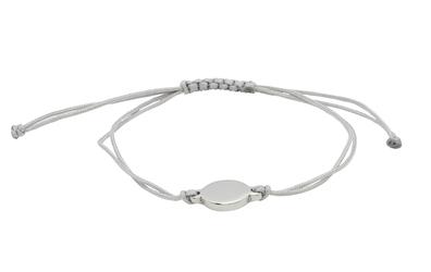 bransoletka magnetyczna 2756-1 szary tekstylny sznurek