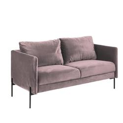 Sofa dwuosobowa lesing różowa welur