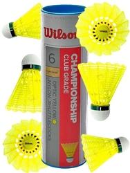 Lotki do badmintona wilson championship 6szt żółte 77