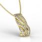 Wisiorek z żołtego złota z diamentami jpw-68z-r