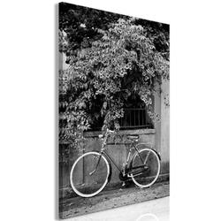 Obraz - rower i kwiaty 1-częściowy pionowy
