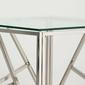 Stolik kawowy szklany alison ii 55x55 cm srebrny chromowany