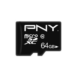 PNY Karta MicroSDHC 64GB P-SDU64G10PPL-GE