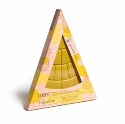 Czekoladowy kawałek pizzy. biała z ananasem i kurkumą - 100 naturalnych składników, uroczy prezent dla najważniejszej osoby