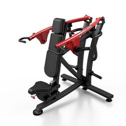 Maszyna na wolny ciężar na mięśnie barków mf-u007 - marbo sport - czarny  antracyt metalic