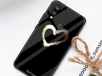 Etui Alogy Glass Armor Case do Huawei P20 Lite czarne serce - Serce