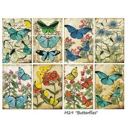 Zestaw papierów MINI 24 szt. - Butterflies - BUTT