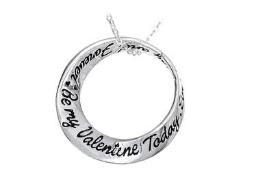 Miłosny srebrny wisiorek be my valentine todey ...