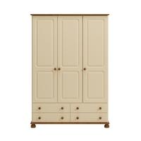 Kremowa romantyczna szafa 3 drzwiowa richmond
