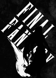 Typography stencils - final fantasy - plakat wymiar do wyboru: 29,7x42 cm