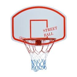 Zestaw kosz do koszykówki kimet street ball tablica obręcz z siatką 45 cm
